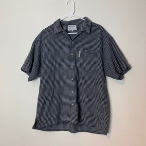 Columbia 100% Cotton Short Sleeved Button Down